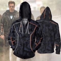 Iron Man Tony Stark Hoodie Sweatshirt For Men  Streetwear Casual  jacket and Hoodies style 1 S