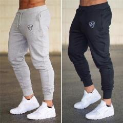 Mens Sports and Leisure Slim Fitness Pants Men's Fashion Trousers Feet Pants black M