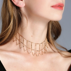 2018 Women Fashion Hand-stitched Multi-Layer Clavicle Necklace Ladies Surprise Jewellery GIft gold one size