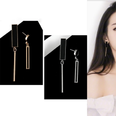 1 Pair New Beautiful Personality Gold Silver Asymmetric geometry Drop earrings For Women Jewellery gold one pair