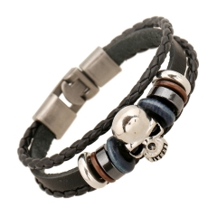 Men Women Leather Bracelet Fashion Jewelry Braided Vintage Leather Bracelet Christmas gift Style 5 as picture