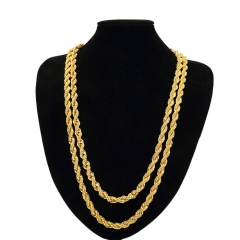 Men's 0.9CM gilded hip-hop Necklace jewelry. Simple and Extravagant gold 78