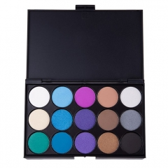 Fashion 15 colors eye shadow earthy pearl smoky blue  make up beauty product Blue