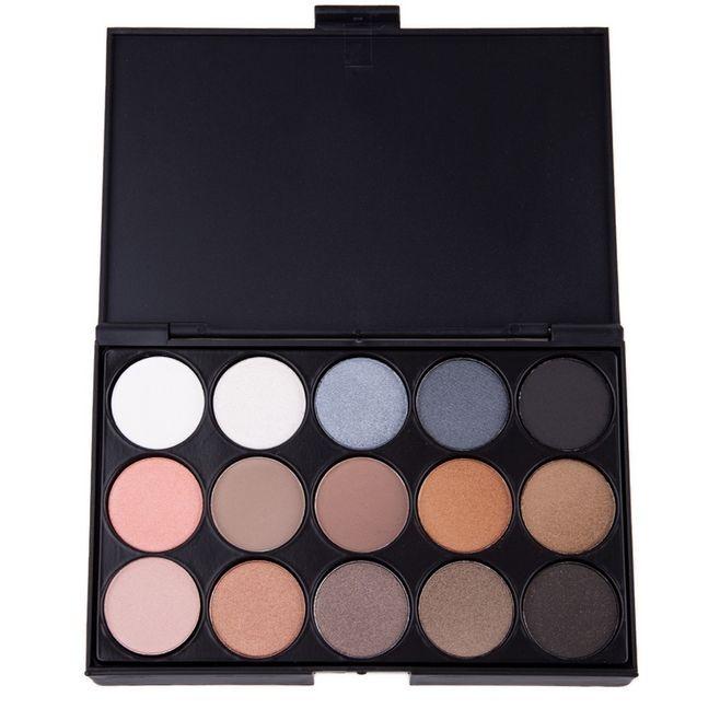 Fashion 15 colors eye shadow earthy pearl smoky blue  make up beauty product Pearl