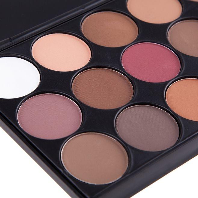 Fashion 15 colors eye shadow earthy pearl smoky blue  make up beauty product Earthy