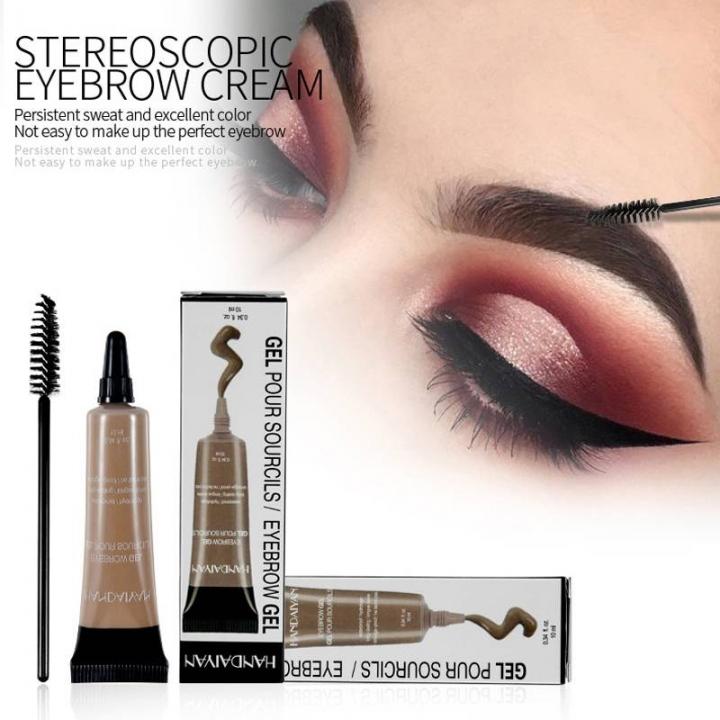 Waterproof Dye Eyebrow Enhancers Mascara Cream Natural Eyebrow Gel