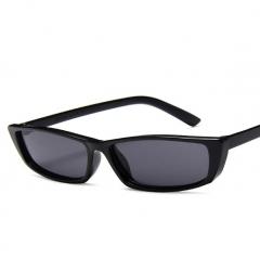 Europe American trend new sunglasses ladies fashion square small box personality sunglasses black onesize