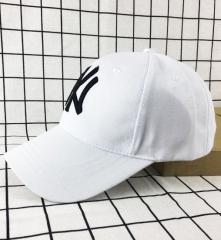 Fashion Classic Unisex Baseball Caps NY for Men&Women Wool felt caps leisure caps white adjustable