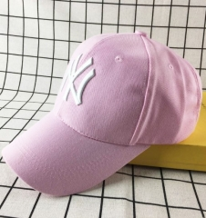 Fashion Classic Unisex Baseball Caps NY for Men&Women Wool felt caps leisure caps pink adjustable