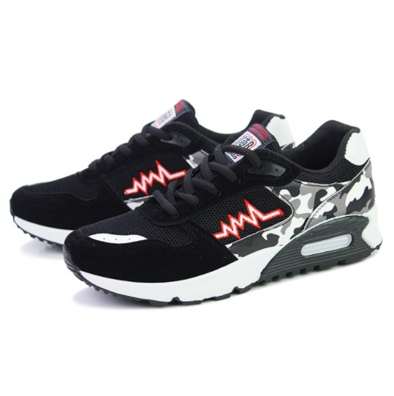 6df81ae5d Men Sneakers Men Sports Shoes Canvas Mesh Breathable Shoes Male Trendy  Casual Student Running Shoes black white 43: Product No: 1393247. Item  specifics ...