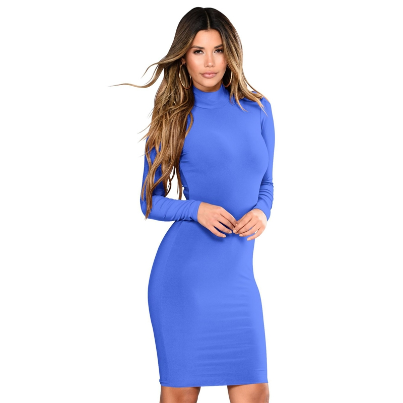 c24c61f0e5 Kilimall  OL Women office elegant dress elastic long sleeve bodycon ...