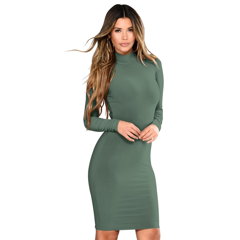 Kilimall  OL Women office elegant dress elastic long sleeve bodycon ... 0df0fa4fd
