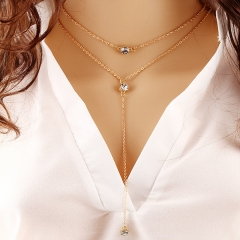Chain Necklace Diamond multi layer Pendants Jewelry Gifts for Women elegant fashion charm girl gold standard