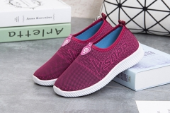 Fashion women shoe casual slip on breathable sneakers comfortable light sport walking soft footwear red 36