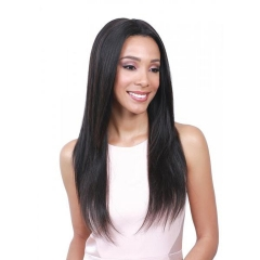 American Women Black Long Wig Head Long Hair Chemical Wigs black 26 inches