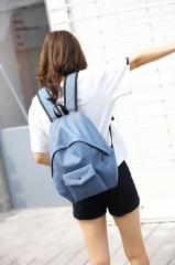 Canvas Shoulder Bag Lady Casual  Bag Schoolbag Campus Computer Bag Light Blue 13.7inches