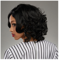 African Wigs Women Girl Curly Full Short Heat Resistant Hair Wigs black 13 inches