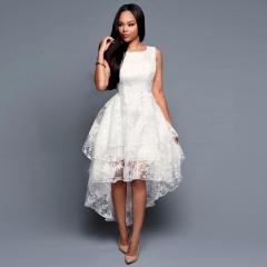 Eugen Gauze Skirt Sleeveless Woman Dress Irregular Dress m White