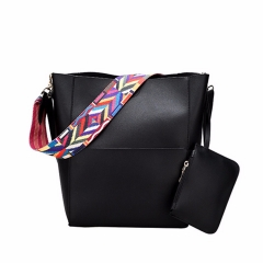Luxury Brand Designer Bucket Bag Women Leather Handbags Color Strap Shoulder Vintage Crssbody Black As Picture