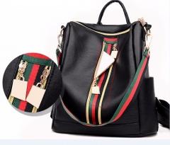 School Backpacks Brand Women Backpack Solid Zipper Bags Female Rucksack Leisure SchoolBags black as picture