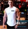 New Summer Men's Quick-drying Running Fitness Cotton Round Neck Basketball Vest L White