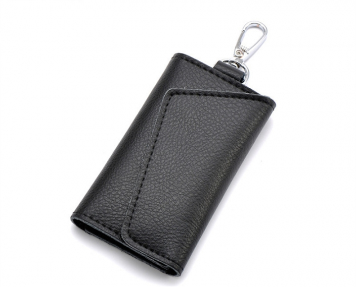 Mens Purse Genuine Leather Wallet Key Chain Holder Bag Key Ring Card Case black m