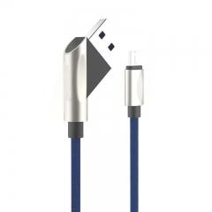 XM01 Micro USB charging Transmission synchronization of Tomahawk Series flocking braided data Line blue