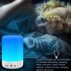 Baymax Wireless Bluetooth High Power Audio Lighting soft High end Gift white portable