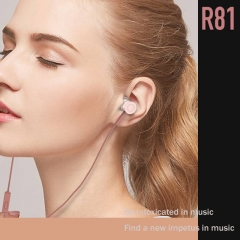 R81 Knight Rock Metal Music headset Rose gold