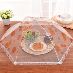 Summer fashion lace gauze foldable food lid table lid random distribution 33cm