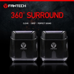 GS201 laptop computer heavy Bass Multimedia Speaker USB2.0 small Speaker FANTECH Black