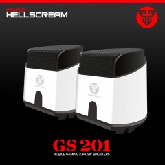 GS201 laptop computer heavy Bass Multimedia Speaker USB2.0 small Speaker FANTECH White