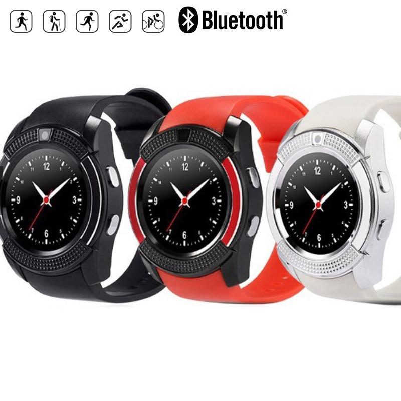 V8 Bluetooth Smart Watch TF SIM Sport Smartwatch red fit