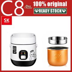 Korean Intelligent Mini Rice cooker 1.2L Multifunctional Rice cooker white 17*19*13cm