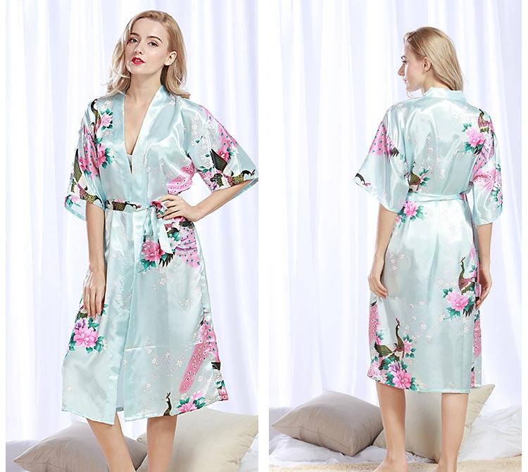 Kilimall  Robe Wedding pajamas Floral Bath Robe Night sexy cardigan ... 3aa37ffb5