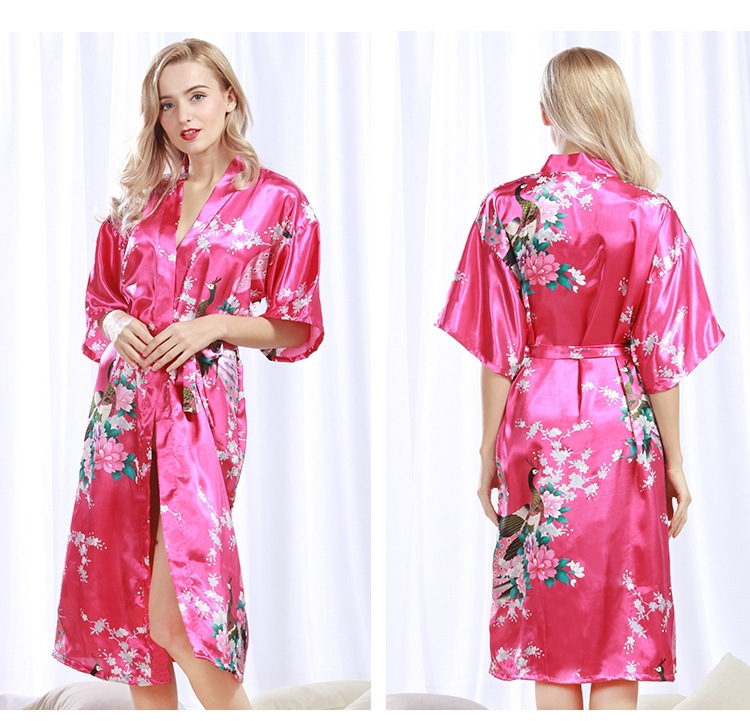 125f1fd9d4 Kilimall  Robe Wedding pajamas Floral Bath Robe Night sexy cardigan ...