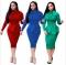 women long dresses noble skirt new style OL long sleeve dress office wear S-XL blue m