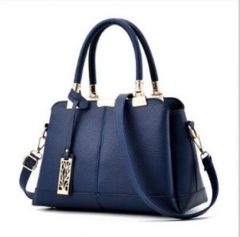 noble and simple new style bag PU leather bag lady's bag blue blue nomal