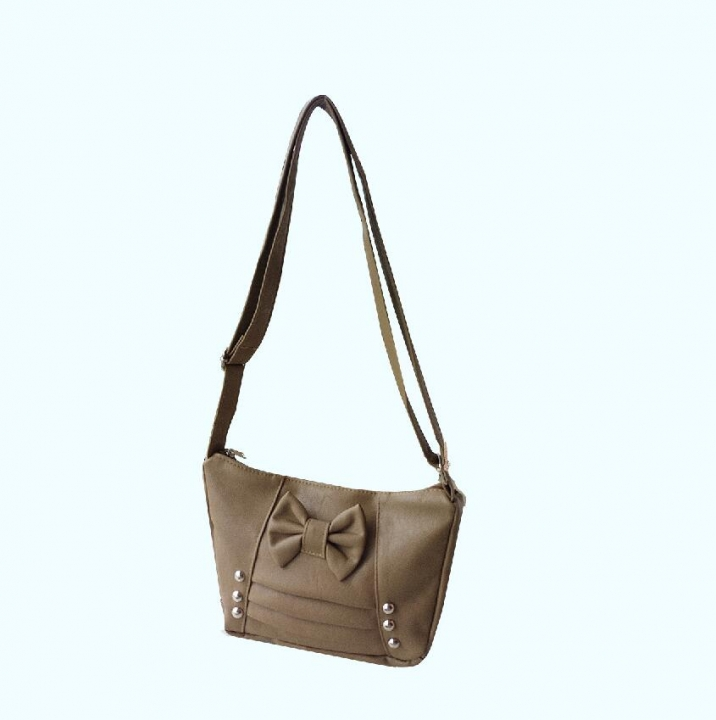 women 's handbag small size shoulder bags high quality PU bag 2018 new style bowknot bags dark brown nomal