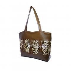 women 's handbag  high capacity PU leather bag sexy leopard print style bags bowknot bags orange nomal