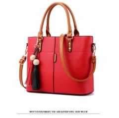 2018 fashion women hand bag noble and simple design handbags shoulder bag black red nomal