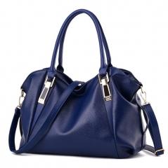 women handbag new style handbag high capacity  PU leather bag lady's should bag six color blue nomal
