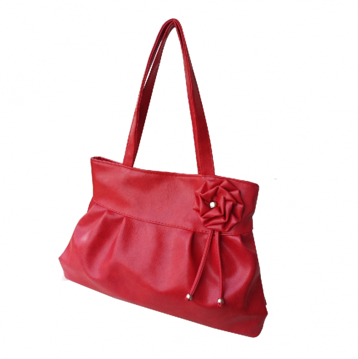 2019 New Arrival Women Fashion Style 3D Flower Handbags For Ladies red nomal
