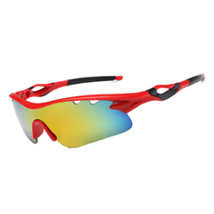 New Arrival Cycling Sports Sunglasses Cycling Glasses Running Fishing Golf Glasses red mirror lens Unisex