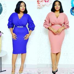 2019 New Arrival Dresses For Women Ladies Women dress fashionable wear m blue