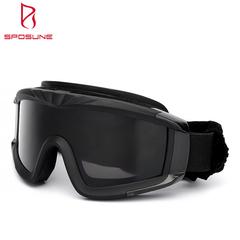 Whole sale MIL- DTL - 43511D CE EN166 Ballistic Military Tactical Airsoft Goggles normal black