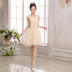 2019 Summer New Arrival party wedding Dress For Ladies Skirt Dresses Fashionable Wear For Women Normal(For 40KG-58KG) Yellow