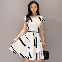 Office Ladies Dresses Women Noble Elegant Dress Skirts For Ladies m withe