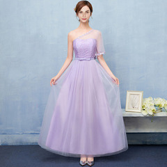 Noble Elegant Women Female Long Wedding Party Summer Dress Dresses normal(for 40kg-58kg) purple