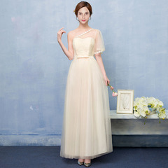 Noble Elegant Women Female Long Wedding Party Summer Dress Dresses normal(for 40kg-58kg) yellow